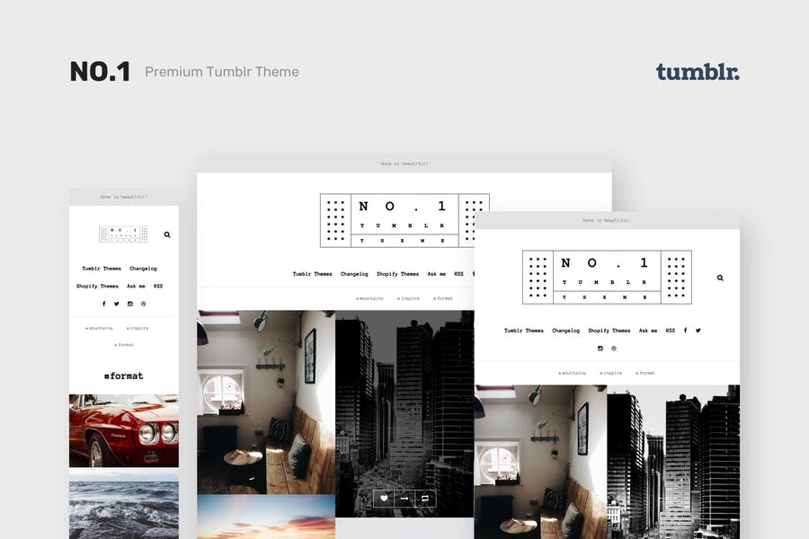 NO.1 | Творческий Портфолио Tumblr Тема