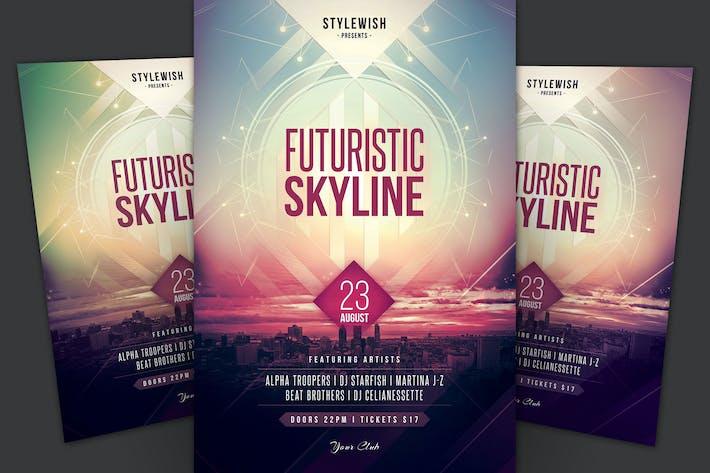 Futuristic Skyline dépliant