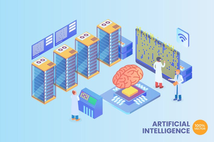 Thumbnail for Isometric Artificial Intelligence Vector Concept