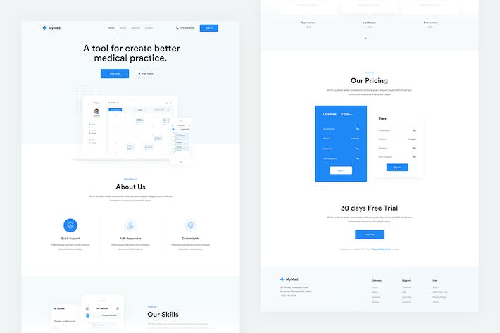 Thumbnail for Mymed — App Landing Page + Dashboard