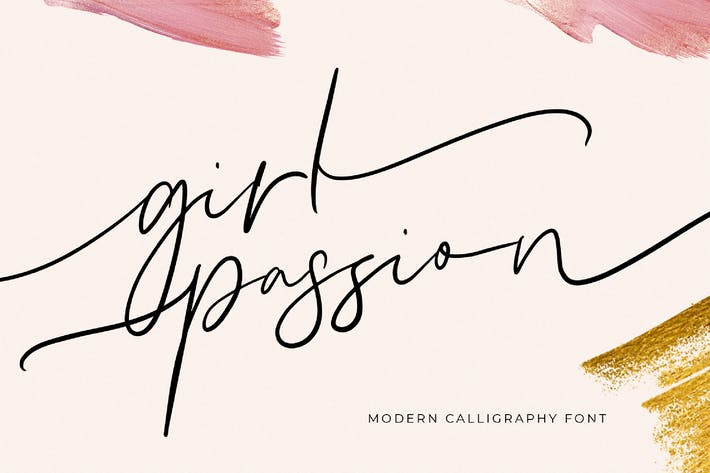 Thumbnail for Girl Passion Modern Calligraphy Font