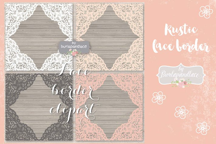 Vector lace frame Vector