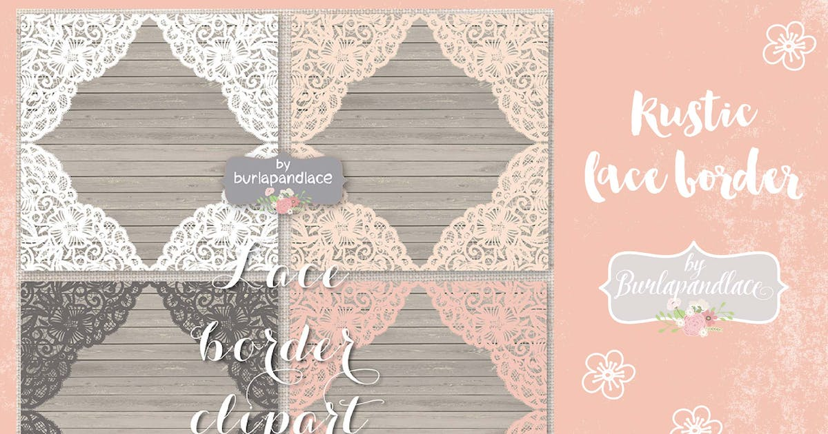Download Vector lace frame Vector by burlapandlace