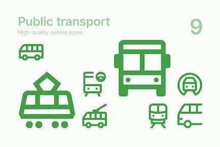 Icons für den öffentlichen Verkehr