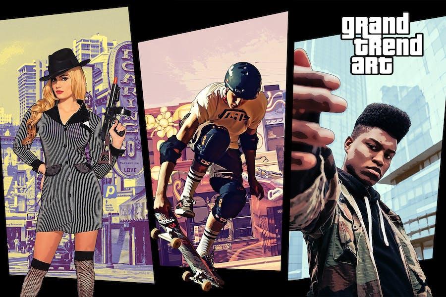 Действие GTA Photoshop