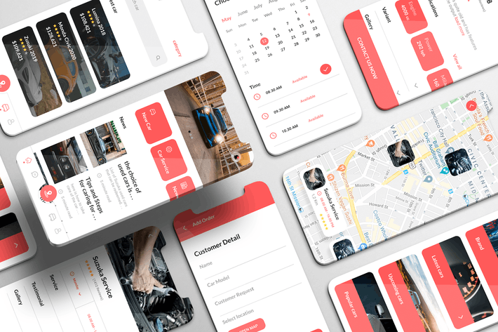 Thumbnail for Autoverso UI Kit - Automotive booking Apps