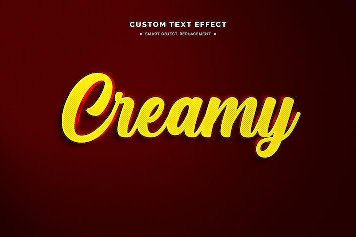 Футуристический 3D текстовый эффект макета