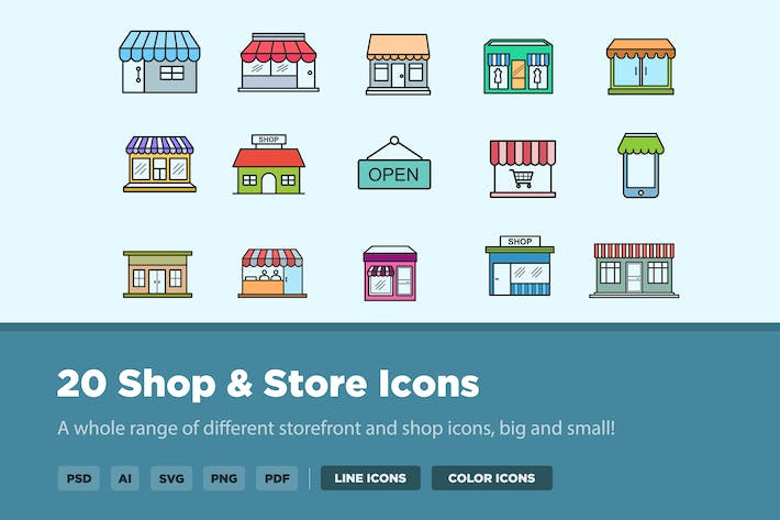 Cover Image For 20 Shop and Store Buildings