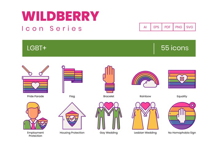 Thumbnail for 55 LGBT+ Icons | Wildberry Series
