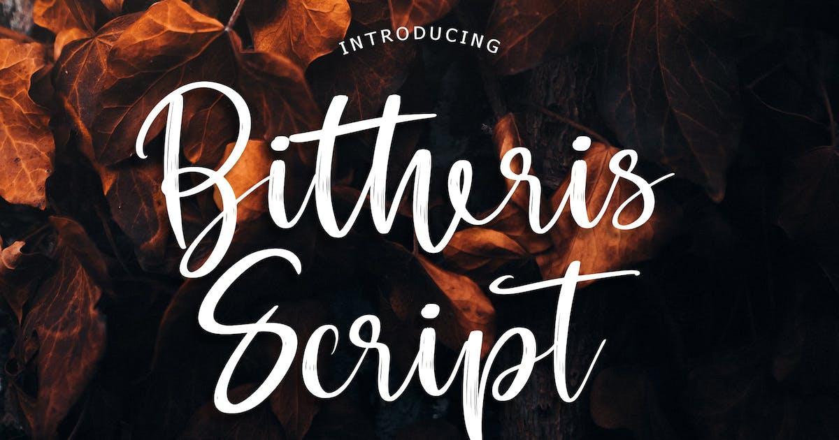 Download Bitheris Script Brush Font by Formatika