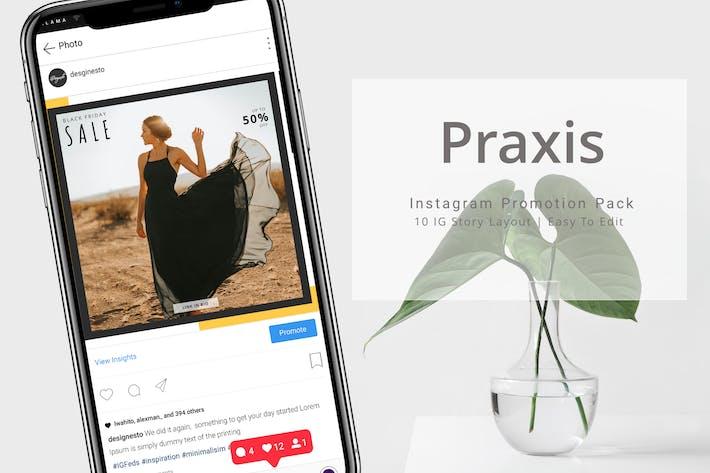 Thumbnail for Praxis - Paquete de promoción de Instagram