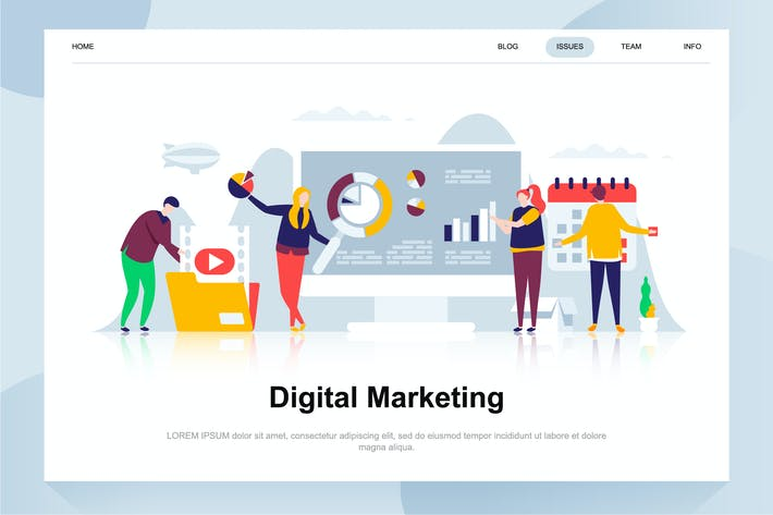 Thumbnail for Digital Marketing Flat Concept