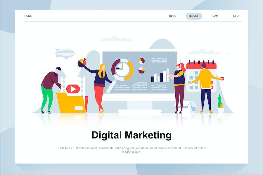 Concept plat de marketing numérique