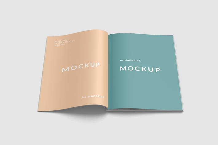 A4 Magazine Mockup Front View