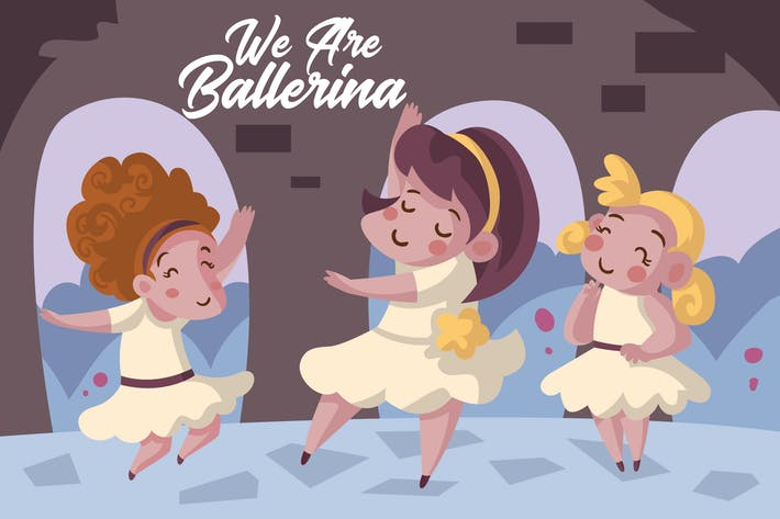 Thumbnail for We Are Ballerina - Vector Illustration