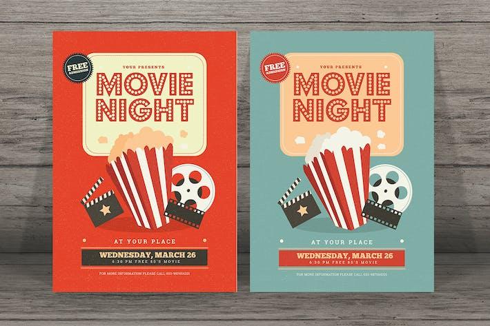 Thumbnail for Retro Movie Festival Flyer