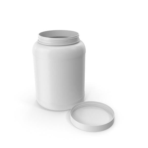 Пластиковая бутылка Широкий рот 1,8 галлон Белый открытая крышка укладка