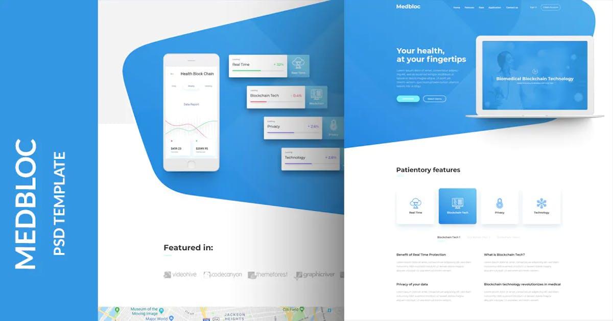 Download Medbloc - PSD Landing Page by umairrazaq
