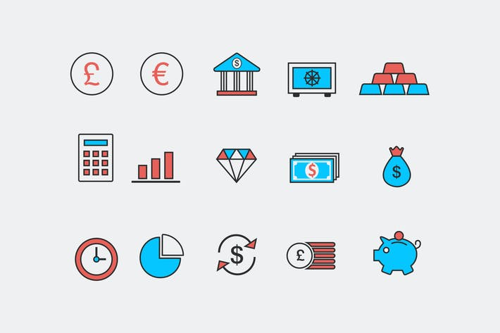 Cover Image For 15 Bank and Finance Icons