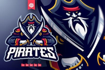 Piraten-Maskottchen-Logo-