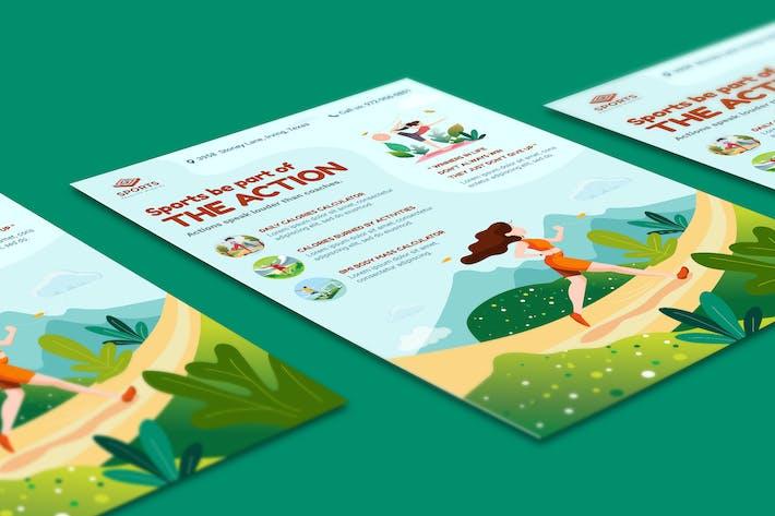 Sport Activities Flyer Illustration Template