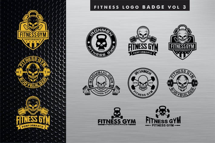 Thumbnail for fitness logo BADGE vol 3