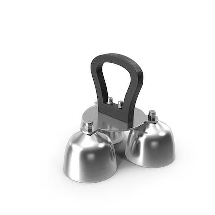 Silver Liturgical Altar Bell 3 Tones