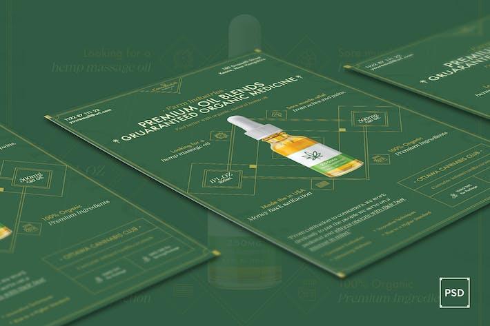 Thumbnail for Cannabis Hemp Oil Products Flyer PSD Template