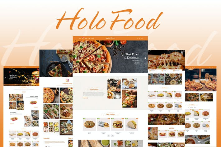 Thumbnail for HoloFood - Fast Food & Restaurant Shopify Theme