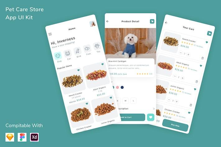 Thumbnail for Pet Care Store App UI Kit