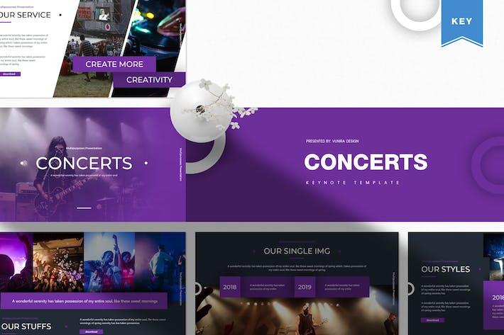 Thumbnail for Концерты | Шаблон Keynote
