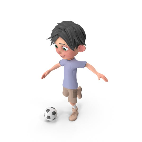 Cover Image for Cartoon Boy Jack Playing Soccer