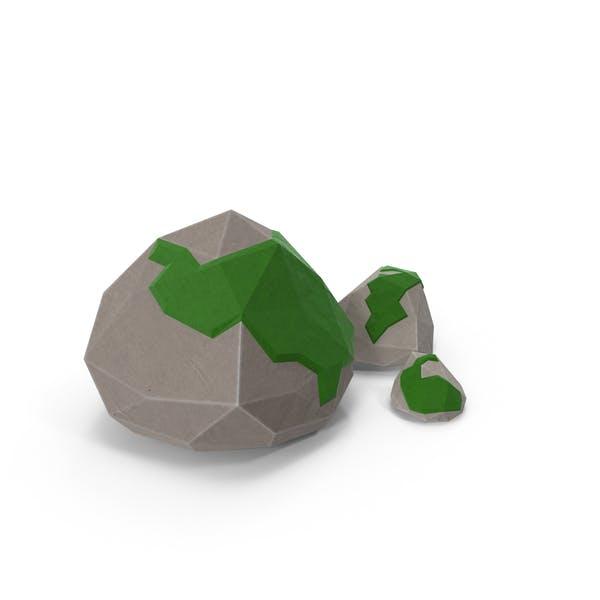 Low Poly Mossy Rocks
