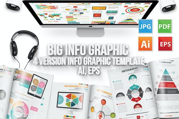 Thumbnail for Big Info Graphic Elements Design 4 Version