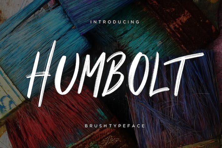 Thumbnail for Humbolt Brush Typeface