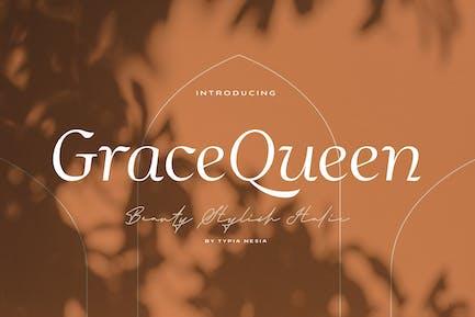 Grace Queen - Fuente cursiva con estilo de belleza
