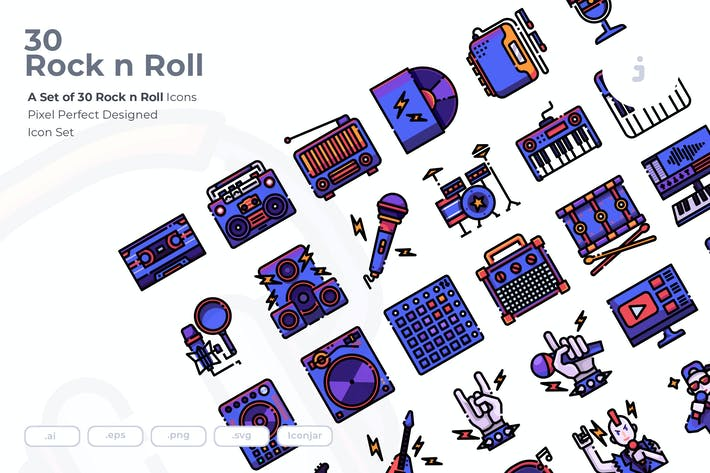 Thumbnail for 30 Rock n Roll Icons