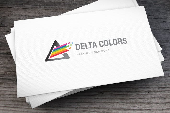 Cover Image For Delta Colors Logo Template