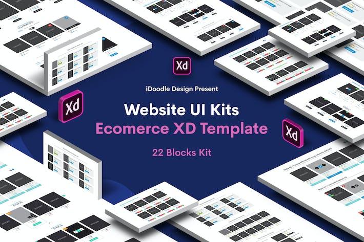 Thumbnail for 22 Блоки Веб-сайт электронной коммерции UI Kit