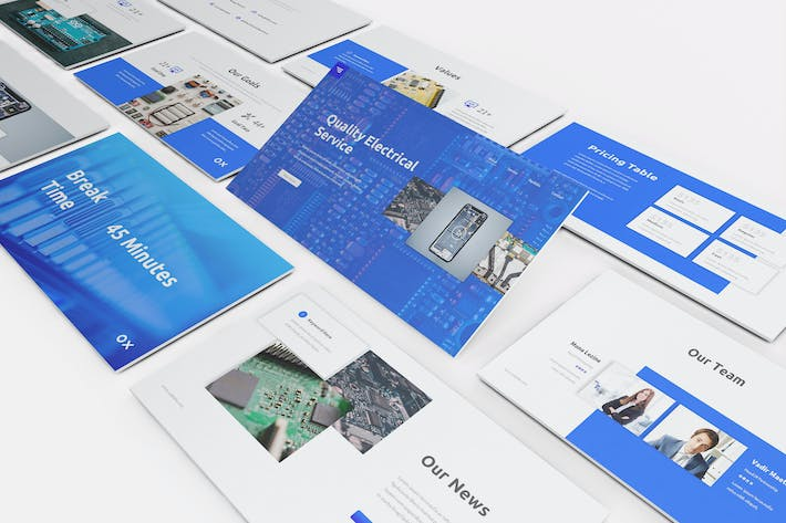 Thumbnail for Electronic Service Google Slides Template