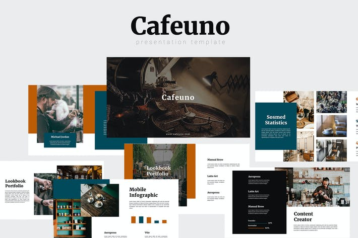 Thumbnail for Cafeuno - Шаблон Powerpoint