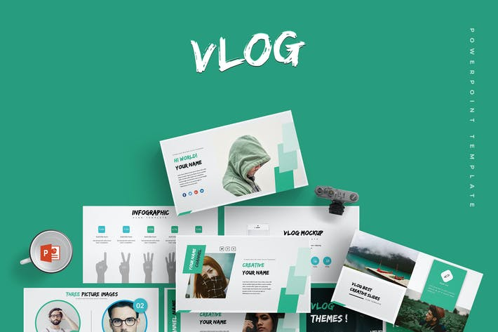 Thumbnail for Vlog - Powerpoint Template