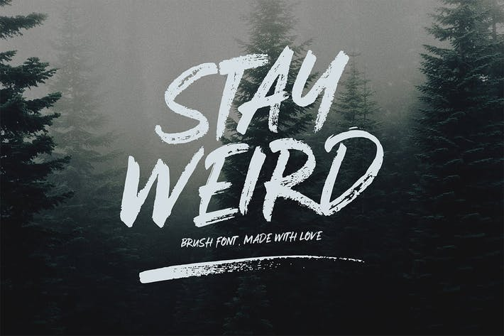 Thumbnail for Stay Weird - Brush Font + Swashes