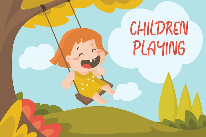 Thumbnail for CHILDREN PLAY - Vector Illustration