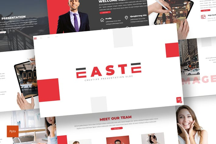 Thumbnail for East - Business Powerpoint Template