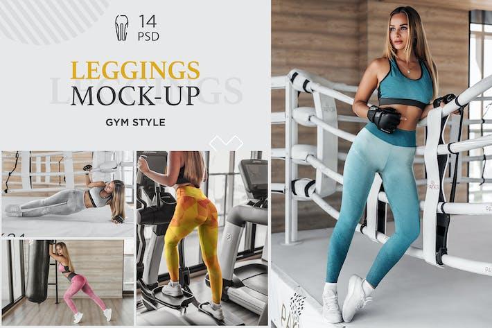 Thumbnail for Leggings Mock-Up Gym Style