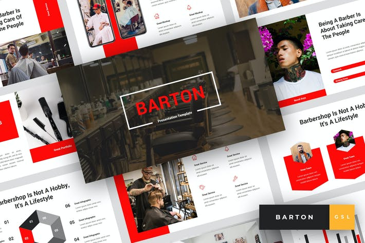Barton - Barbershop Google Slides Template