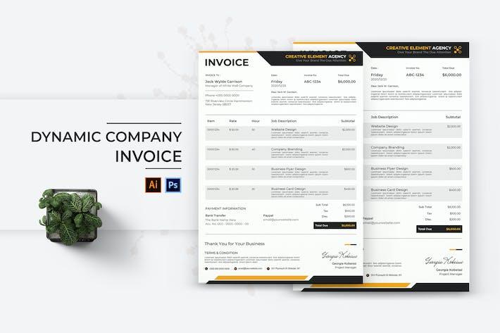 Thumbnail for Dynamic Company Invoice
