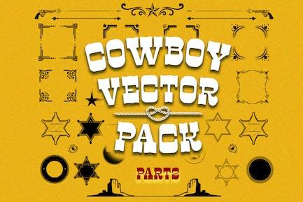Cowboy vector pack part2