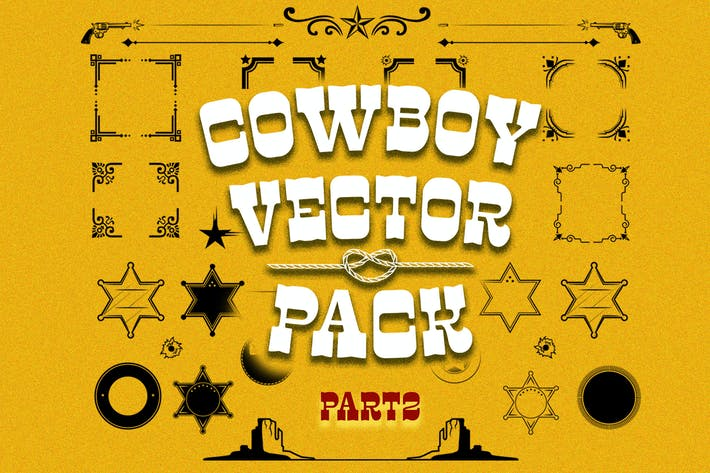 Thumbnail for Cowboy vector pack part2